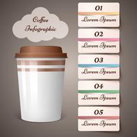 Copa, café, chá - infográfico de negócios. vetor