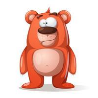 Personagens fofinhos, engraçados urso. vetor