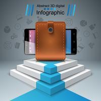 Gadget digital, smartphone - infográfico de negócios.