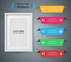 Frame de papel - ícone de busines e infográfico. vetor