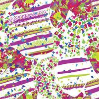 Teste padrão pontilhado sem emenda da folha abstrata do mosaico. Telha decorativa de borrões caóticos texturizado pano de fundo cerâmico