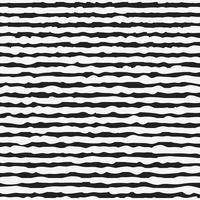Preto e branco padrão sem emenda com linhas desenhadas de mão vetor