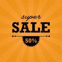 Banner de oferta de desconto de venda com raios de luz de estrela radial