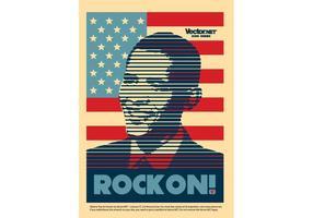 Cartaz de Obama vetor