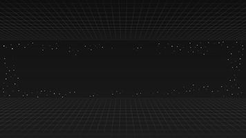 Fundo de linha retro futuro preto, onda retrô de estilo futurista synth