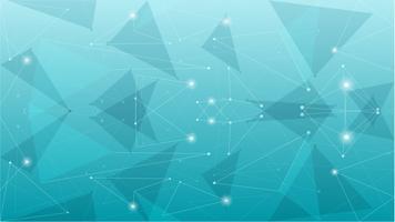 Fundo poligonal azul geométrico abstrato