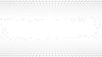 Fundo de linha retrô mínima monocromático, onda retrô de estilo futurista synth