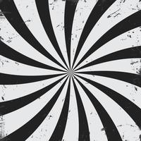 Raios Radiais grunge preto e branco fundo vetor