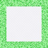 Moldura de pixel verde, bordas