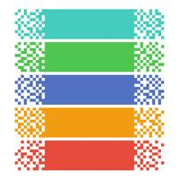 Banners de web pixel abstrata para cabeçalhos vetor