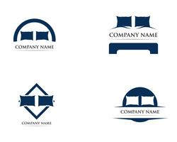Ilustrador de modelo de vetor de logotipo de cama