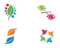 Logotipos de vetor de elemento de natureza ecologia folha verde