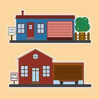 Conceito imobiliário com casa à venda vetor