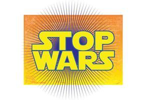 Pare as guerras vetor