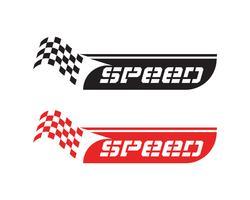 Ícone de bandeira de corrida, logotipo de bandeira de corrida de design simples vetor