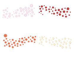 Flores de ícone de plumeria beleza design ilustração vetor