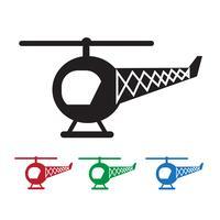 Sinal de símbolo de ícone de helicóptero vetor