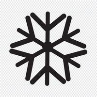Sinal de símbolo de ícone de floco de neve