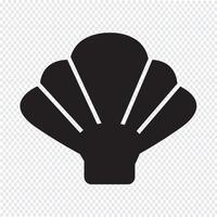 Sinal de símbolo de ícone de concha