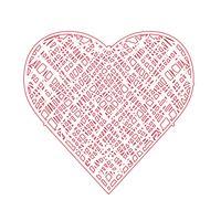 Sinal de símbolo de ícone de coração