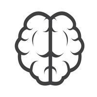 Cérebro ícone símbolo sinal vetor