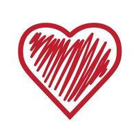Sinal de símbolo de ícone de coração vetor