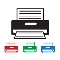 Sinal de símbolo de ícone de impressora