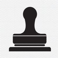 Carimba, ícone, símbolo, sinal vetor