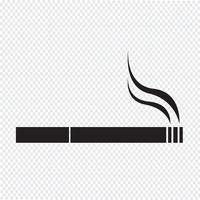 Sinal de símbolo de ícone de cigarro vetor