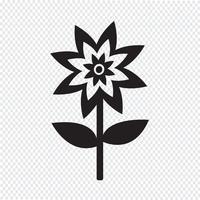 Flor, símbolo, sinal símbolo vetor