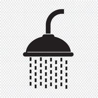 Sinal de símbolo de ícone de chuveiro vetor