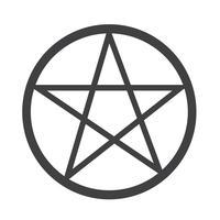 Sinal de símbolo do ícone de pentagrama vetor