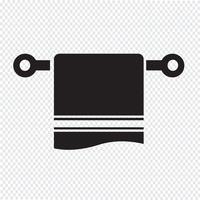 símbolo de ícone de toalha vetor