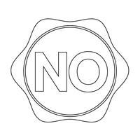 nenhum sinal de símbolo de botão vetor