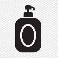 símbolo de ícone de xampu vetor
