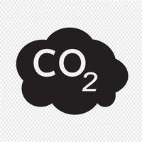 Sinal de símbolo de ícone de CO2 vetor
