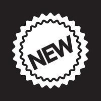 novo ícone símbolo sinal vetor