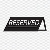 ícone reservado símbolo sinal vetor