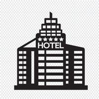 Sinal de símbolo de ícone de Hotel vetor