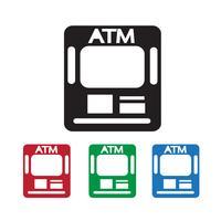 Sinal de símbolo de ícone de ATM vetor