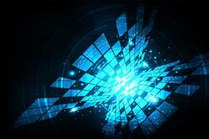 Fundo de tecnologia digital com informações ricas. vetor