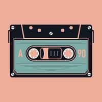 Cassete áudio analógico compacto vetor