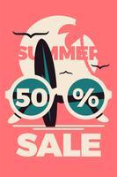 Modelo de cartaz de venda de verão vetor