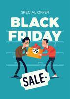 Modelo de banner de venda de sexta-feira negra vetor