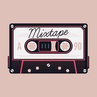 Cassete áudio compacto Mixtape vetor