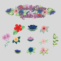conjunto de ícones de flor coleção de elementos