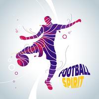 ilustração de respingo de futebol futebol vetor