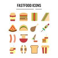 Ícone de fast-food em design plano para web design, infográfico, apresentação, aplicativo móvel, ilustração vetorial vetor
