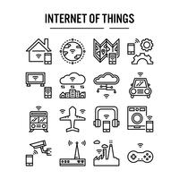 Internet do ícone de coisas no design de estrutura de tópicos vetor