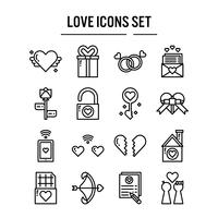 Amor, ícone, em, esboço, desenho vetor